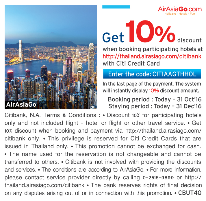 citibank credit card promotion thailand