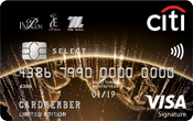 Citi M Visa Select Credit Card