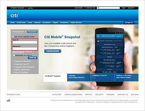 Citibank Account Online >> Contact Us - Citibank Thailand