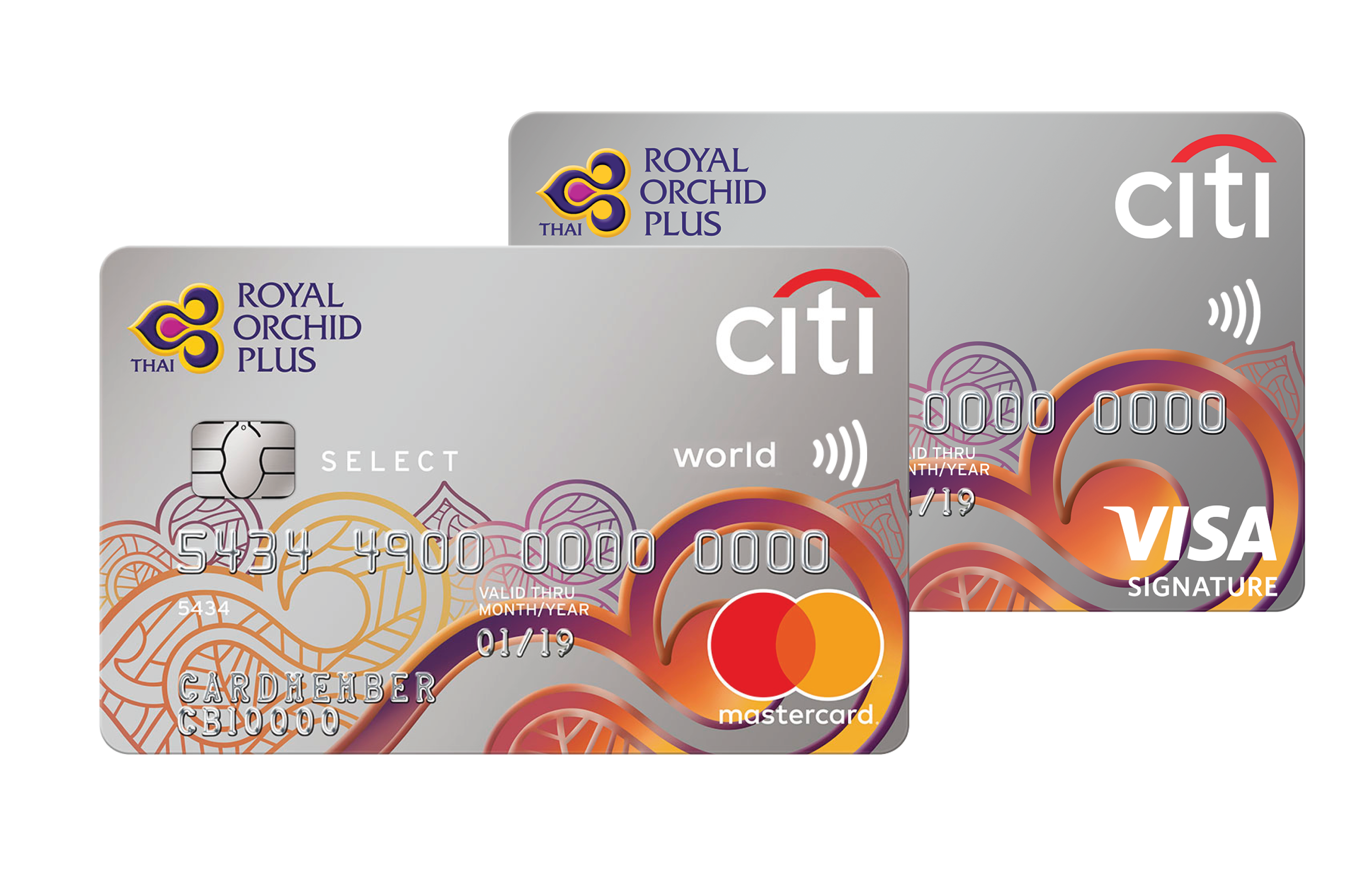 Citi Prepaid Limited Brands >> Citi Royal Orchid Plus Select Thai Airways Miles Credit