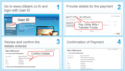 Citicards Pay Bill >> Citibank Thailand Citibank Online Bill Payment